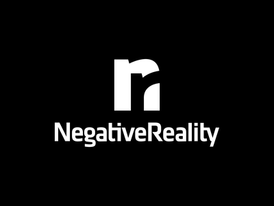 Negative Reality Logo Design smart clever monogram business cards stationery graphic design designer negative space design icons icon identity branding brand logo