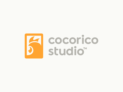 Cocorico Studio Logo Design digital studio app mobile silhouette nature animal rooster negative space business cards stationery graphic design designer design identity icons icon branding brand logo