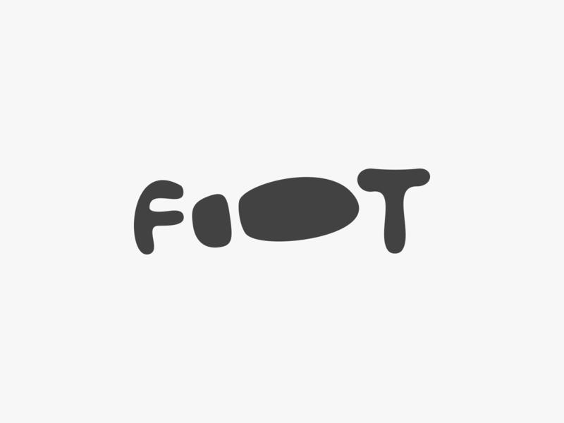 Foot Logo Design wordmark clever smart shoe footprint feet foot design identity business cards stationery graphic design designer symbol icons icon mark branding brand logo