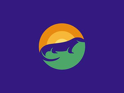 Komodo Dragon Logo Design logo brand branding identity icon icons symbol graphic design designer business cards stationery negative space komodo dragon animal animals nature travel travels exotic sun