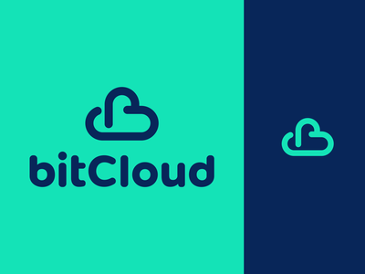 bitCloud Logo Design identity brand branding logo creative smart clever geometry geometric graphic design designer business cards stationery bit symbol icons icon vibrant modern tech fintech technology cloud monogram