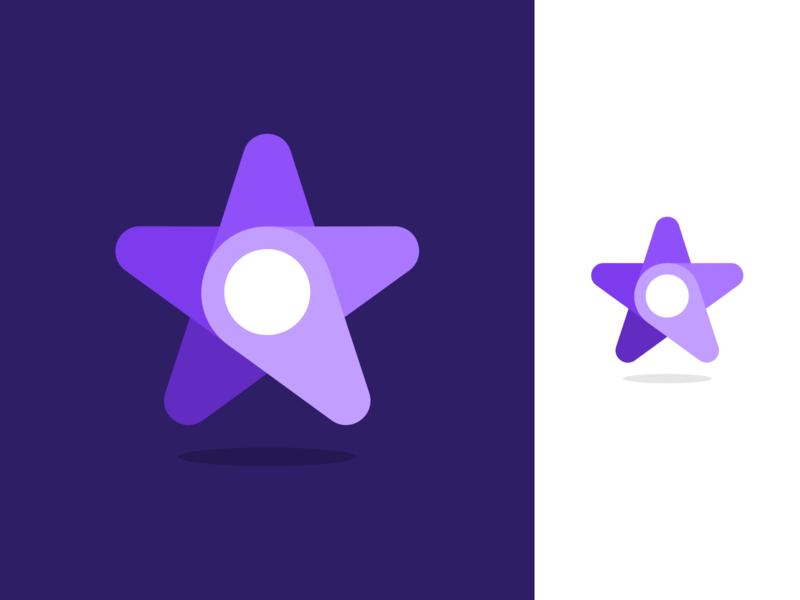 Lavvoro Logo Design app startup fintech technology vibrant modern smart clever pin star symbol business cards stationery graphic design designer design identity branding brand icons icon logo