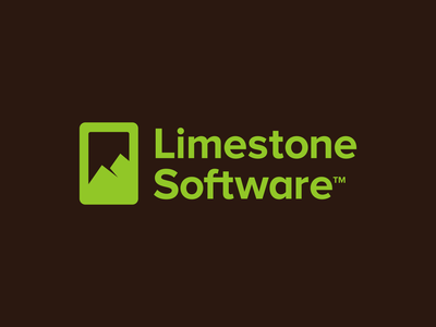 Limestone Software sky frame phone mountains mountain design clever negative space business cards stationery graphic design designer symbol icons icon app mobile software identity branding brand logo
