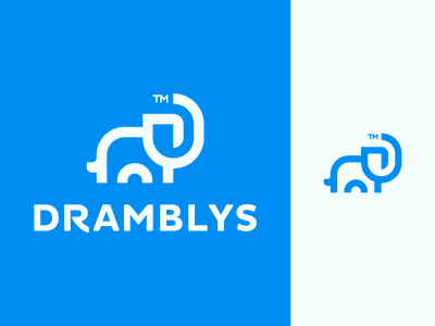 Dramblys Logo Design logotype visual identity smart clever modern geometric africa nature animals animal elephant logodesigns logodesigner logodesign icons icon identity branding brand logo