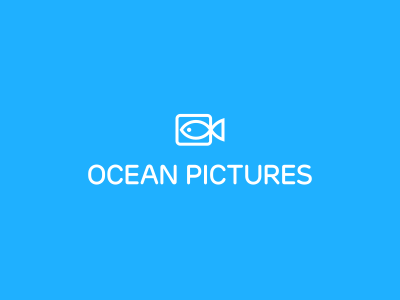 Ocean Pictures Logo Design brnad bradn barnd loogdesign lgoodesign logodesing logo deisgn desgn desgin deisgner dsgner deisgn loog lgoo lgo logog design logo identity brand fish ocean camera pictures