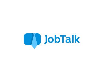 Job Talk Logo Design - Online Job Board brnad bradn barnd loogdesign lgoodesign logodesing logo deisgn desgn desgin deisgner dsgner deisgn loog lgoo lgo logog design logo identity brand job tie chat bubble