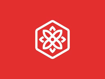 Bloomsy Box Logo Design business cards stationery symbol modern logodesigner logodesign flowers bouquet petal bloom hexagon box flower clever icons icon identity branding brand logo