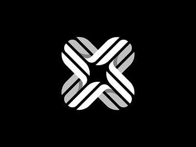 X Logo Design geometric geometry cross x monogram brandmark logomark graphicdesigner logodesigner logodesign symbol business cards stationery design mark icons icon identity branding brand logo