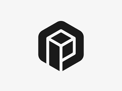 P + Box Logo Design logodesigner logodesign creative smart clever negative space box hexagon p letter monogram logomark design mark icons icon identity branding brand logo