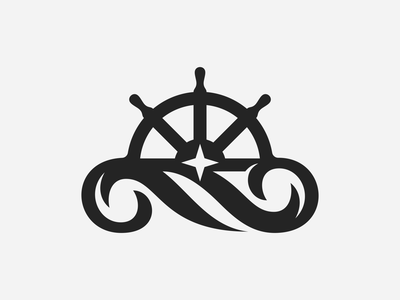 NAGA Logo Design smart clever logodesigner logodesign sea waves wave ocean star wheel sun ship symbol icons icon mark identity branding brand logo
