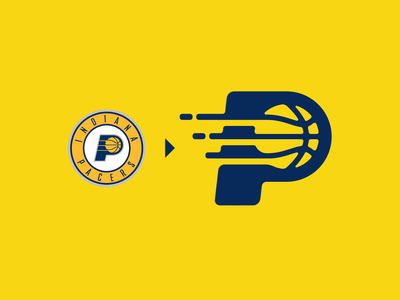 Indiana Pacers (NBA) Logo Redesign hoops nba brand logo branding identity icons icon creative sports basketball badge logodesign logodesigner indiana pacers bball lakers lebron durant