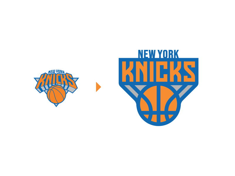 New York Knicks (NBA) Logo Rebrand clever symbol creative nyc ny ncaa nba rebrand ball knicks new york hoops sports sport basketball design branding brand icon logo