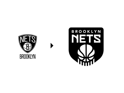 Brooklyn Nets (NBA) Logo Redesign icon nhl nfl nba modern design badge creative symbol bball hoops nets brooklyn sport sports basketball identity branding brand logo