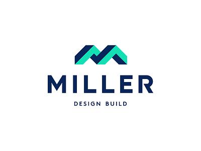 Miller Design Build Logo t h e q u i c k b r o w n f o x j u m p e d o v e r l a z y d o g modern logomark logotype geometric logodesigner logodesign 3d construction creative symbol monogram design icon identity branding brand logo
