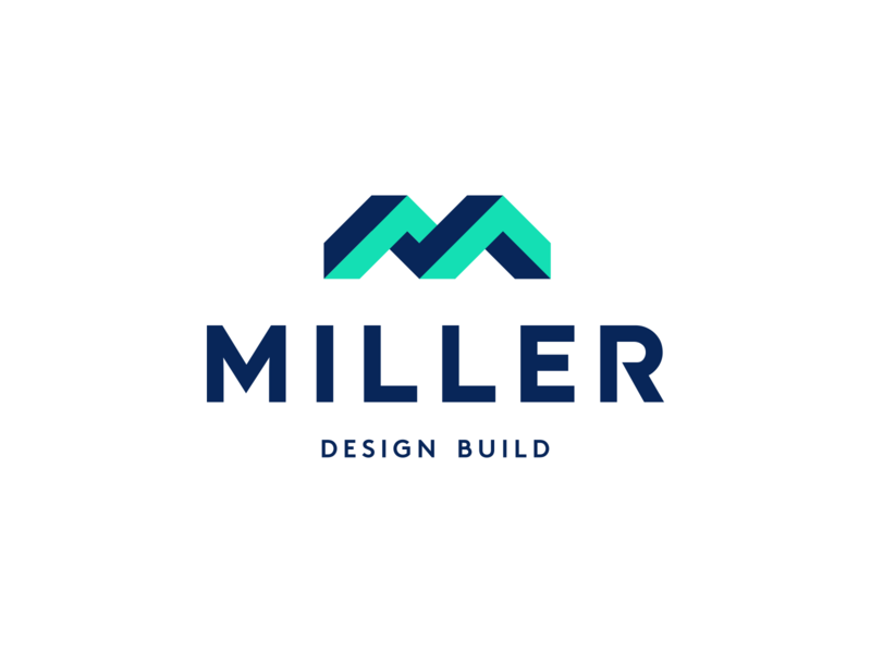 Miller Design Build Logo startup modern logomark logotype geometric logodesigner logodesign 3d construction m creative symbol monogram design icons icon identity branding brand logo
