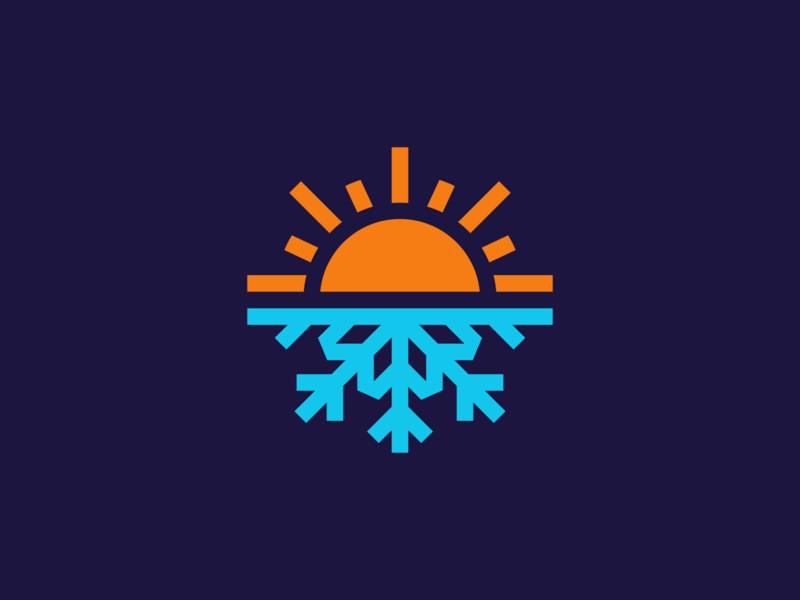 Sunflake Logo Design creative nature weather logodesigner logodesign startup app cold hot snow snowflake sun clever icons design icon identity branding brand logo