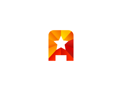 A + Star Logo Design logo icon identity design mark brand promotion advertising a traffic celebrity gossip