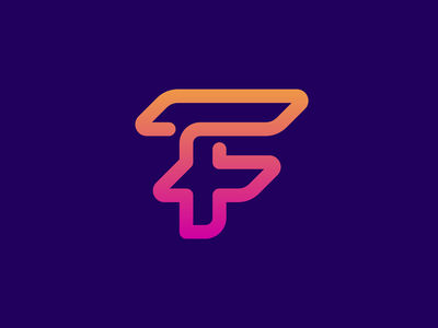F icon / lettermark design t h e q u i c k b r o w n f o x j u m p e d o v e r l a z y d o g finance blockchain cryptocurrency fintech tech lettermark letter symbol business cards stationery monogram icons branding brand identity design icon logo