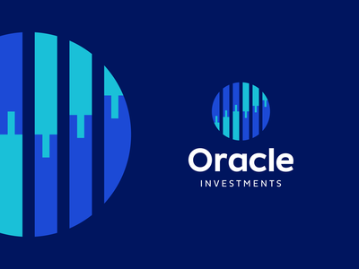 Oracle Investments Logo Design logodesign investing symbol clever modern fintech appicon app startup candlestick statistics finance icons mark branding brand identity design icon logo