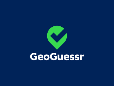 GeoGuessr app appicon creative symbol pin checkmark gps geolocation maps map geography clever icons mark branding brand identity design icon logo