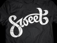 Sweet T-Shirt Logo Design logo icon identity design calligraphy typography sweet black t-shirt