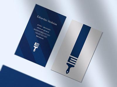 Business Cards decoration e monogram paintbrush symbol modern creative clever brand identity corporate identity stationery business cards icons mark branding brand identity design icon logo
