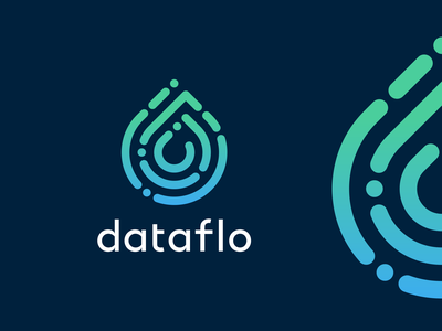Dataflo Logo Design drop data finance app appicon startup symbol creative tech software logotype logodesign icons mark branding brand identity design icon logo