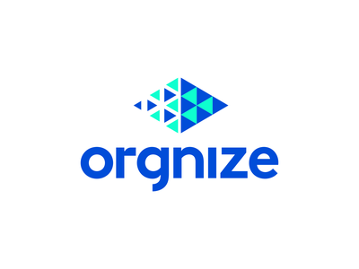 Orgnize Logo Design - Chaos / Order / Particles / Abstract geometry geometric abstract colors colorful colourful modern vibrant gradient fintech crypto cryptoccurency technology tech appicon software symbol creative logotype logodesign icons branding brand identity design icon logo