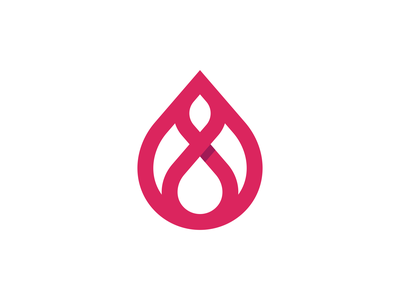 Redrop Clinic Logo Design - Blood / Drop / Infinity / Hospital modern clever vibrant tech technology fintech startup app appicon software logotype logodesign medical health blood icons branding brand identity design icon logo