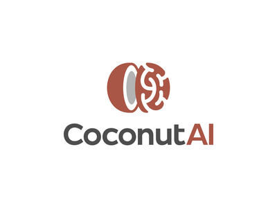 Coconut AI Logo Design clever smart modern logotype logodesign tech technology fintech software appicon brain coconut icons mark branding brand identity design icon logo