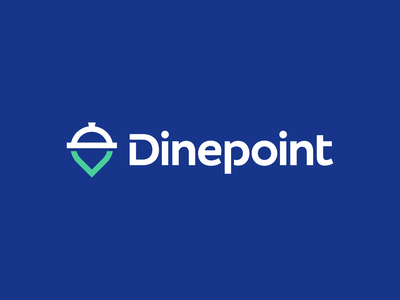 Dinepoint Logo Design map location symbol clever smart modern pin tech technology fintech appicon software logotype logodesign chef food dish restaurant icons mark branding brand identity design icon logo