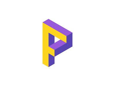 F + P Logo / Monogram Design escher modern vibrant crypto cryptocurrency blockchain appicon 3d logotype logodesign software tech technology fintech monogram j u m p e d o v e r l a z y d o g t h e q u i c k b r o w n f o x icons branding brand identity design icon logo
