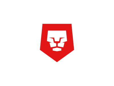 Red Lion Logo Design logo icon identity design mark brand red lion head proud king royal