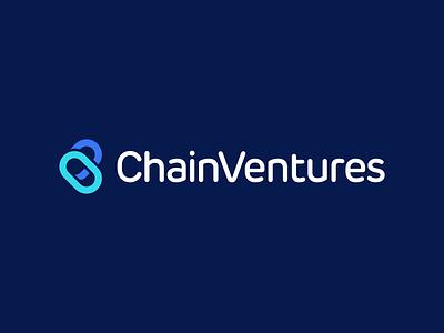 Chain Ventures Logo Design l a z y d o g j u m p e d o v e r t h e q u i c k b r o w n f o x appicon clever smart modern fintech finance cryptocurrency logotype blockchain crypto software tech symbol logodesign brand design icon logo