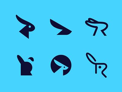2021 Rabbits Collection finance l a z y d o g j u m p e d o v e r t h e q u i c k b r o w n f o x animal blockchain crypto appicon software tech symbol creative rabbit logotype logodesign branding brand design icon logo