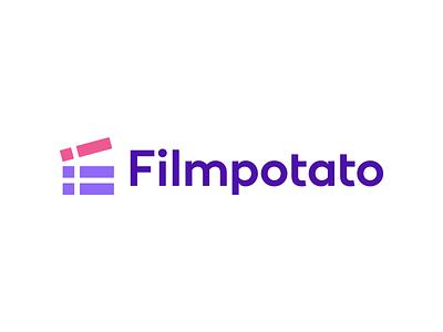 Filmpotato Logo Design - Movies / Lists / TV Schedules blockchain finance crypto geometric modern minimalistic tech software appicon creative tv movie film smart clever symbol logodesign logotype branding brand design icon logo