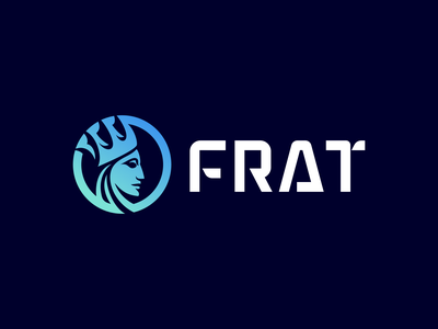FRAT Logo Design - Crypto / Blockchain / Defi / Cryptocurrency royal negative space gradient modern fintech finance technology cryptocurrency blockchain crypto software tech creative symbol logotype logodesign brand design icon logo