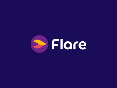 Flare Logo Design modern blockchain cryptocurrency crypto software tech creative symbol fire star flame flare abstract logodesign logotype branding brand design icon logo