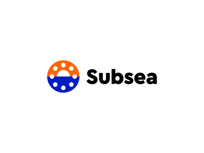 Subsea - Oil & Gas / Ocean / Sun / Sea / Machinery / Bolted branding minimalistic industrial clever water ocean sea sun gas oil machinery symbol creative logodesign logotype identity brand design icon logo