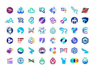 2021 Logo Collection minimalistic clever flat modern gradient t h e q u i c k b r o w n f o x j u m p e d o v e r l a z y d o g cryptocurrency blockchain crypto software tech creative symbol logotype logodesign design icon logo