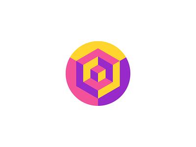 3D Hexagon Logo Design - Cube / 3D printing / Depth icons gradient vibrant geometric hexagon cube clever 3d modern appicon software tech creative symbol logotype logodesign brand design icon logo