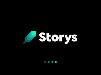 Storys Logo Design - Feather / Stories / Layers / Pixels finance pen appicon symbol blockchain crypto gradient modern pixel digital feather tech software logodesign logotype identity brand design icon logo