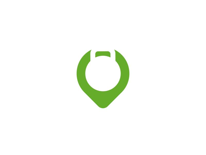 a9741814329c0 Fitness + Pin Logo Design by Dalius Stuoka | logo designer ...