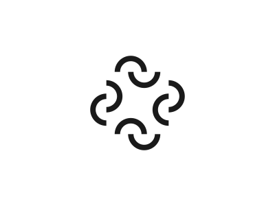 Square logo icon identity design brand branding rectangle circle optical illusion