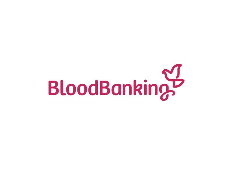 Blood Banking Logo Design logo icon identity design brand branding blood bank banking bird ligature