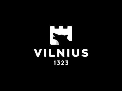 Vilnius Logo Design logo icon identity design brand branding vilnius city lithuania wolf castle founding