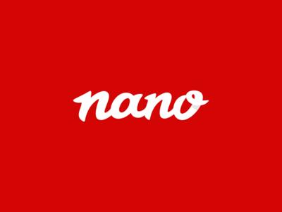 Nano Logo Design Wordmark logo icon identity design brand branding wordmark nano calligraphy typography type