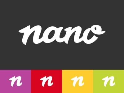 Nano Logo Design logo icon identity design brand branding nano typography calligraphy lettering