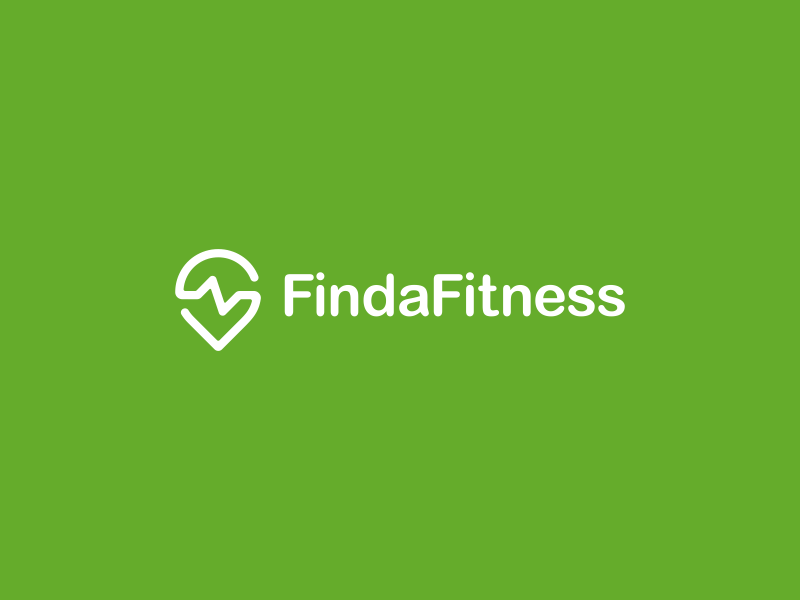 Find a Fitness Logo Design logo icon identity design brand branding pin cardio cardiogram health fitness gym