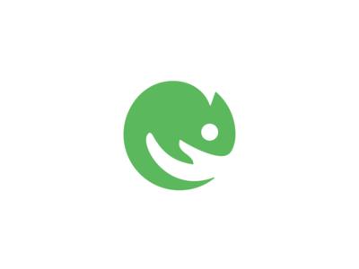 Hand + Chameleon Logo Design